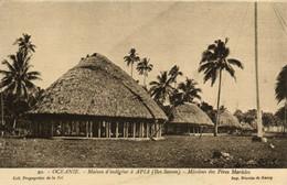 PC CPA SAMOA, PACIFIC, APIA, MIDDIONS DES PÉRES MARISLES, Postcard (b19427) - Samoa
