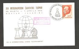 "Yugoslavia 1970 Mostar - Chess Cancel ""Pocetak Turnira"" On Commemorative Card - Scacchi"