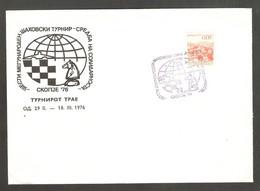 Yugoslavia 1976 Skopje - Chess Cancel On Commemorative Envelope - Scacchi