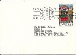 Spain Cover Sent To Las Palmas Madrid 16-12-1981 Single Franked - 1931-Heute: 2. Rep. - ... Juan Carlos I
