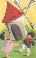 Meunier Tu Dors.... (carte Avec Porte Du Moulin Qui S'ouvre Pour Voir Le Meunier Dormir). Série Vieilles Chansons - Musik