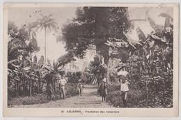 CPA Adjarra (Dahomey) Plantations De Bananiers  Récolte Et Portage Sur La Ttête  Ed Valla Et Richard Voy 1939 - Dahomey