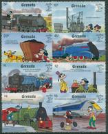 Grenada 1990 STAMP WORLD LONDON Walt Disney Zugverkehr Züge 2122/29 Postfrisch - Grenada (1974-...)