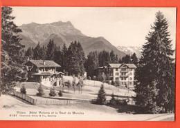 ZCC-19 Villars Sur Ollon Hotel Victoria Et Dent De Morcles. Charnaux 8181 Non Circulé - VD Vaud