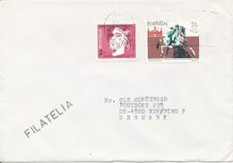 Portugal Cover Sent To Denmark 27-2-1993 - Cartas