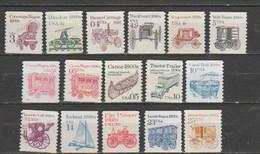 "USA-  Lot Of 16 Unused Stamps--  Catalog Value $ 4.65- "" TRANSPORTATION"". - Estados Unidos"