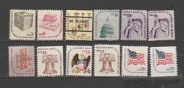 "USA-  Lot Of 12 Unused Stamps--  Catalog Value $ 4.00- "" AMERICANA SERIRES"". - Estados Unidos"