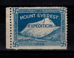 Vignette MOUNT EVEREST EXPEDITION Emise Pour Financer L'expedition Mallory / Irvine De 1924 , NSG MNG - Erinofilia