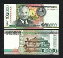 LAOS 100000 (100,000) KIP BANKNOTE 2011 UNC P-42 - Laos