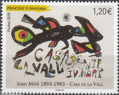 Andorra (French Post) 2018, Joan Miro, MNH Single Stamp - Ungebraucht