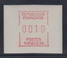 Frankreich FRAMA-ATM Aus Automaten S01 45234 Auf Camp-Papier Weiss, Wert 0010 ** - Zonder Classificatie