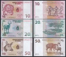 Kongo - Congo 10,20,50 Centimes 1997 Pick 82,83,84  UNC (1)   (19758 - Autres - Afrique