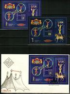 BULGARIA 2020 EVENTS 20th Anniversary Of BALKANSKI CIRCUS - Fine 2 S/S + FDC - Unused Stamps