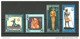 Egypt - 1967 - ( Post Day - Tutankhamen & Others ) - Pharaonic - Set Of 4 - MNH (**) - Egyptology