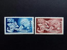 SAARLAND MI-NR. 297-298 POSTFRISCH(MINT) AUFNAHME DES SAARLANDES IN DEN EUROPARAT - Unused Stamps