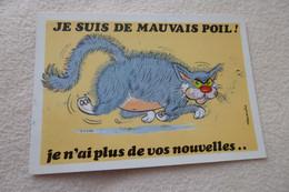 BELLE ILLUSTRATION HUMORISTIQUE.....CHAT DE MAUVAIS POIL - Alexandre