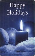 Happy Holidays & Candle - Hotel Room Key Card - Hotelkarten