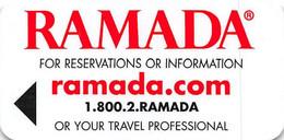 Ramada - Narrow Hotel Room Key Card - Hotelkarten