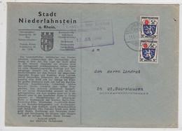 Franz.Zone Brief Der Stadt Niederlahnstein Mit MEF Nach St.Goarshausen - Zona Francesa