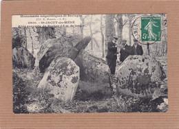 CPA 22 Monuments Mégalithiques De Bretagne 3600 St-Jacut-du-Méné Allée Couverte Du Rocher - Sonstige Gemeinden