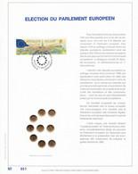 Exemplaire N°001 Feuillet Tirage Limité 500 Exemplaires Frappe Or Fin 23 Carats 2326 élection Parlement Européen Europe - Velletjes