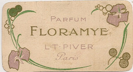 PARFUM FLORAMYE L T PIVER PARIS / CALENDRIER 1913  C1353 - Parfumkaarten
