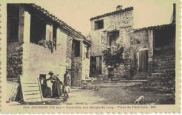 GOURDON - EXCURSION AUX GORGES DU LOUP - PLACE DU PETIT-COIN - BIEN ANIMEE - VERS 1900 - Gourdon