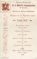 79 - Brioux Sur Boutonne : Menu  - Remise Médaille Vétérans De 1870 - 1912 - Brioux Sur Boutonne