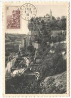 FRANCE ROCAMADOUR 15FR CARTE MAXIMUM CARD MAX 4.12.1946 LOT - 1940-49