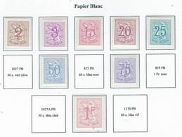 COB   Lion Héraldique  Papier Blanc   (MNH) + (°) - Unused Stamps