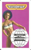 RAIL RAILWAY RAILROAD TRAIN CATERING SHIP BUS AUTOBUS * WOMAN GIRL EROTIC SEXY * CALENDAR * Utasellato 1970 2 * Hungary - Petit Format : 1961-70