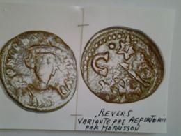 Demi - Follis Constant II Tête  De Face Rv / Emis A Carthage Variante N'est Pas Répertoriée Par Morrisson - 8. El Bajo Imperio Romano (363 / 476)