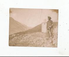 MODANE (SAVOIE) PLUVIOMETRE DES TUFS PHOTO AVEC MILITAIRE FRANCAIS CHASSEUR ALPIN 1911(14 SUR COL) - Guerra, Militari