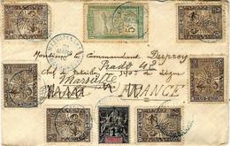 1910-enveloppe Affr. 20 C ( Affr. Phil. Avec Petites Valeurs Oblat. MEVATANANA  + MADAGASCAR - Ao Dos, Franchise F M N°2 - Brieven En Documenten