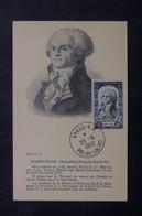 FRANCE - Carte Maximum En 1950 - Robespierre - L 73661 - 1950-59