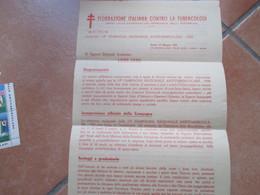 Maggio 1950 13°Campagna ANTITUBERCOLARE Circolare  FEDERAZIONE ITALIANA CONTRO LA TUBERCOLOSI - Autres