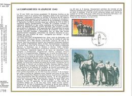 FEUILLE ARTISTIQUE (AVEC SOIE)  TP N° 2369  CP FDC DE DAMPREMY  DES EDITIONS...(VOIR LES 2 SCANS) - FDC