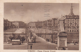 Torino - Piazza Vittorio Veneto - Tram - Fp Vg 1937 - Places