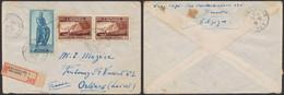 Affranch. Mixte çàd N°729 En Paire + 740 Sur Lettre En R De Bruxelles (1946) > Orléans (France) - Briefe U. Dokumente