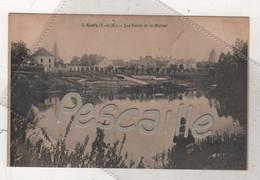 77 SEINE & MARNE - CP ANIMEE ESBLY - LES BORDS DE LA MARNE - PECHEUR A LA LIGNE - F. POUYDEBAT PARIS N° 2 - Esbly