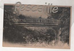 77 SEINE & MARNE - CP ANIMEE ESBLY - UN PONT SUR LE MORIN - F. POUYDEBAT PARIS N° 1 - Esbly