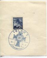 Böhmen Und Mähren 18.5.41 Sonderstempel 51 Briefstück, Iglau Kriegsmuttertag - Storia Postale
