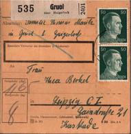 ! 1942 Gruol über Haigerloch Nach Leipzig, Paketkarte, Deutsches Reich, 3. Reich - Briefe U. Dokumente