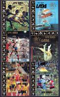1983 Nord-Korea Mi.Block 157-62 A ** Olympische Sommerspiele Los Angeles / North-Korea Olympics 6 S/S MNH - Verano 1984: Los Angeles