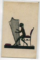 ILLUSTRATEUR Manni GROSZE Série 5716 Jeune Femme Nue Bas Ombre Chinoise Jouant Harpe Musicienne    D21 2020 - Grosze, Manni