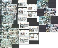 BU106 PERF,IMPERF 2012 BURUNDI TRANSPORT SLEDGE DOGS 12KB+2BL+10 LUX BL MNH - Chiens