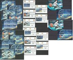 BU112 PERF,IMPERF 2012 BURUNDI TRANSPORT SPACE TOURISME 12KB+2BL+10 LUX BL MNH - Autres
