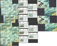 BU113 PERF,IMPERF 2012 BURUNDI TRANSPORT AVIATION 12KB+2BL+10 LUX BL MNH - Avions