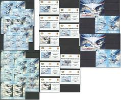 BU114 PERF,IMPERF 2012 BURUNDI TRANSPORT AVIATION-X 12KB+2BL+10 LUX BL MNH - Avions
