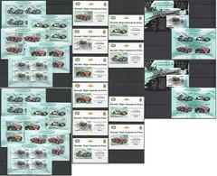 BU122 PERF,IMPERF 2012 BURUNDI TRANSPORT AUTOMOBILES 12KB+2BL+10 LUX BL MNH - Voitures